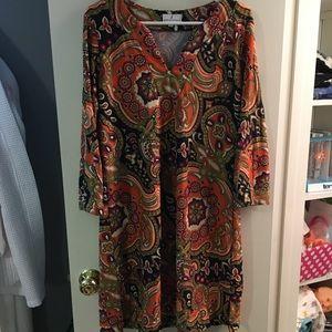 Multicolor Paisley Dress